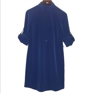 The Limited Button Down Shirt Dress NWT Small Blue